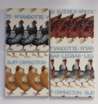 4 Ceramic Coasters in Emma Bridgewater Hens